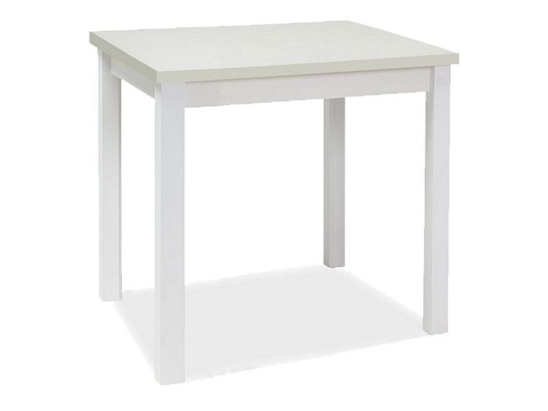 Stôl ADAM biela matná 90x65