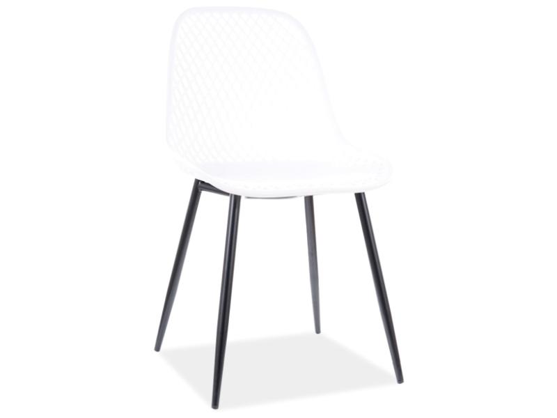 Jedálenská stolička CORRAL A čierna konštrukcia / biely