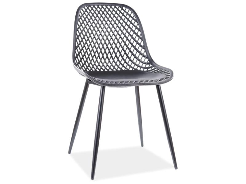 Jedálenská stolička CORRAL A čierna konštrukcia / čierny