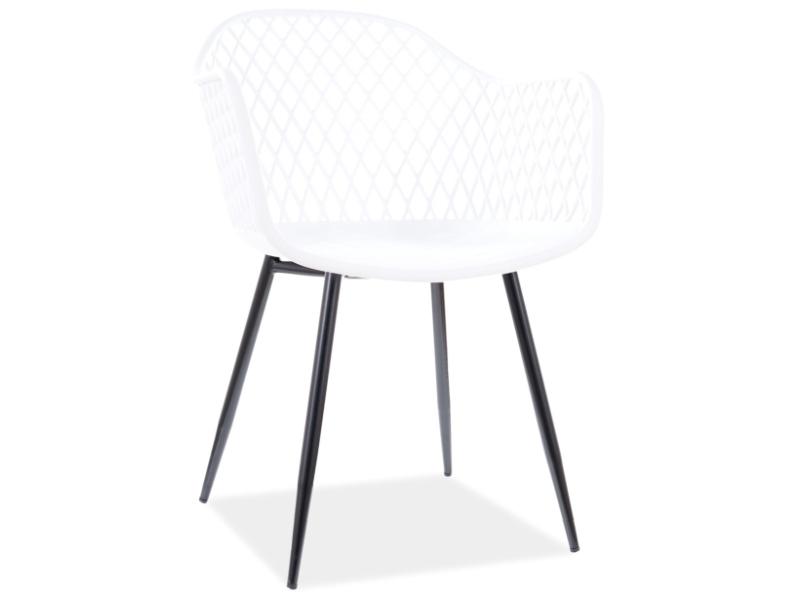 Jedálenská stolička CORRAL B čierna konštrukcia / biely