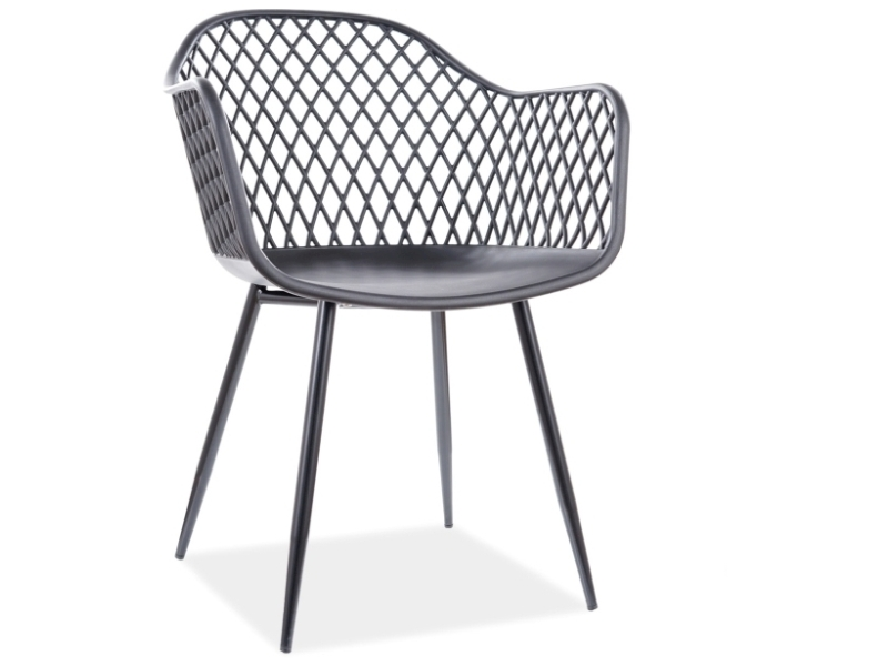 Jedálenská stolička CORRAL B čierna konštrukcia / čierny
