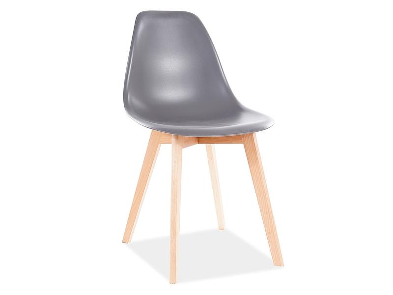 Jedálenská stolička MORIS BUK/šedá