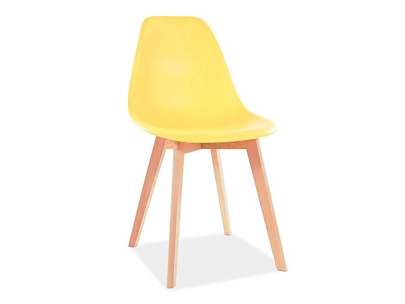 Jedálenská stolička MORIS BUK/žltý