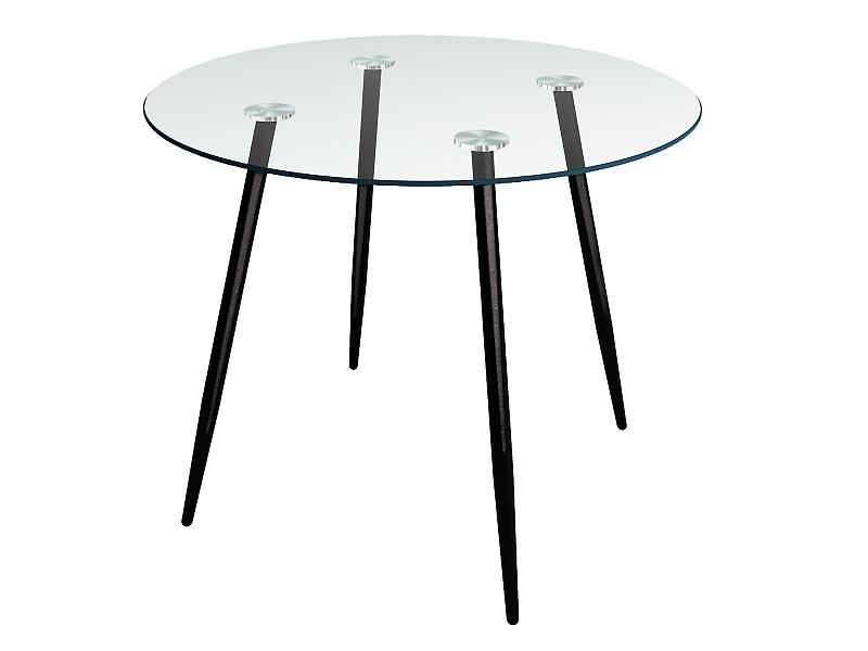 Stôl NINO II transparent/čierna konštrukcia FI 90