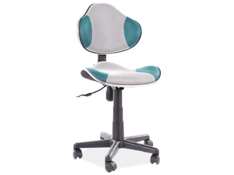 Kancelárska stolička Q-G2 tyrkys/šedá