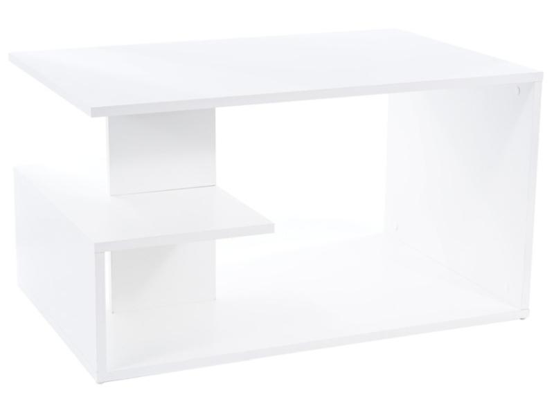 Konferenčný stolík SANTA biela matná 90X60X50