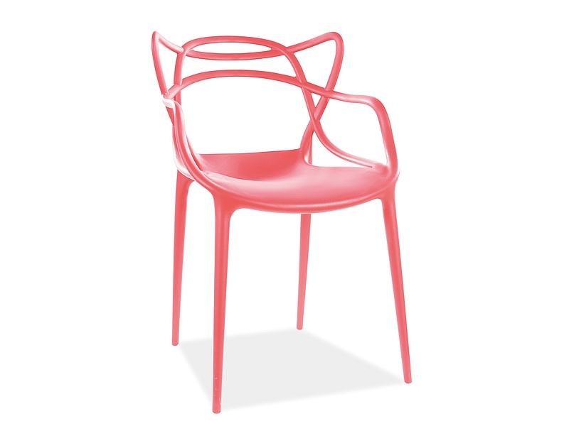 Jedálenská stolička TOBY červená