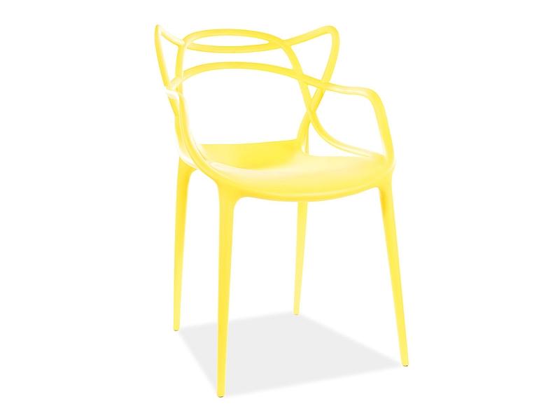Jedálenská stolička TOBY žltá