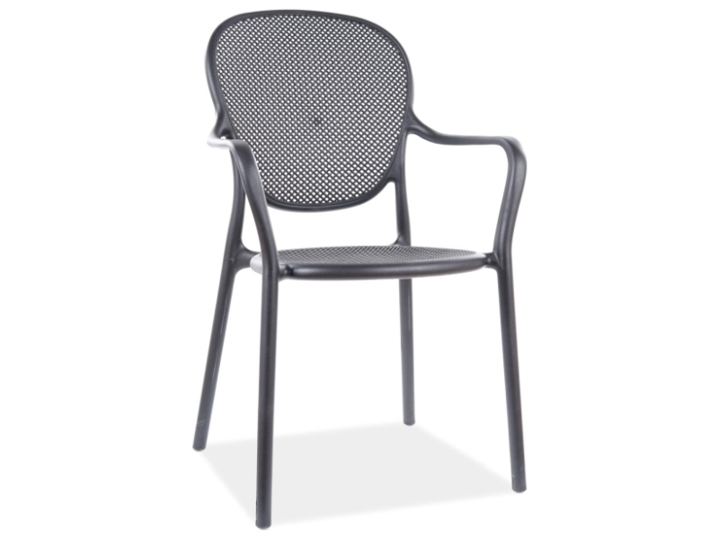Jedálenská stolička TREVOR čierna